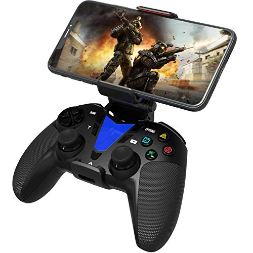 DarkWalker Wireless Bluetooth Mando, Mobile Controller para iOS 13 o posterior Compatible con juegos Compatibles con MFI - Android 10 Cloud Gaming Support Xcloud Stadia Shadow - PS4