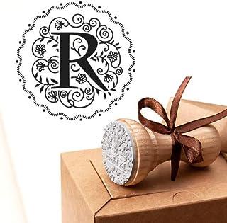 Timbro Lettera R Iniziali Timbri Lettere Alfabeto Monogramma R Idee Regalo Aziendale