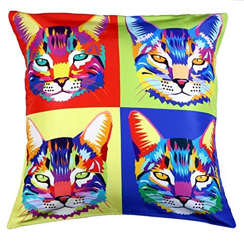 Ravenox Alt90 Pop Art Design Polyester Cushion Covers Digital Printed 45 x 45cm-Cute Owl
