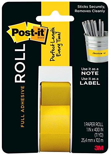 Post-it 2650-Y Etikettenrolle Super Sticky, 25.4 mm x 10.16 m, gelb