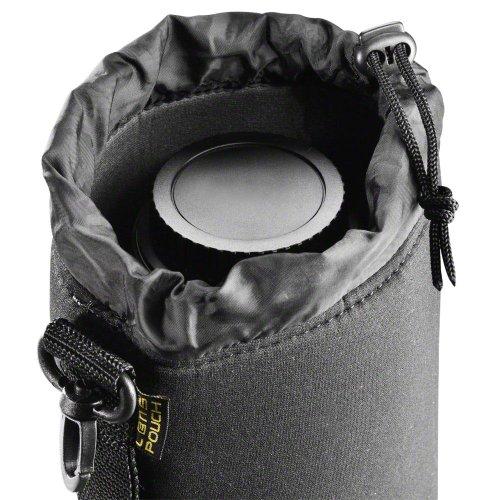 Sony SEL-55210 Tele-Zoom-Objektiv (55-210 mm, F4.5-6.3, OSS, APS-C, E-Mount) schwarz & Walimex Objektivbeutel Neopren Größe M, 10 x 14 cm (wasserabweisend, Innenmaße ca. 9,5 x 9,5 x 14 cm)