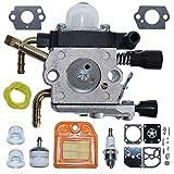 AUMEL 4237 120 0606 Kit de reparación de línea de Filtro de Combustible de Aire de carburador para Stihl HS81 HS81R HS81RC HS81T HS86 HS86R HS86T Recortadora de setos con bujía