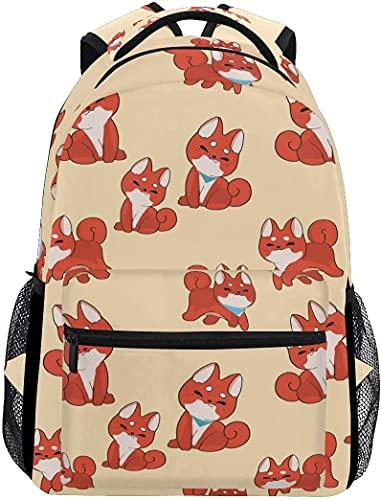School College Backpack Rucksack Travel Bookbag Outdoor Cute Shiba Inu Dog