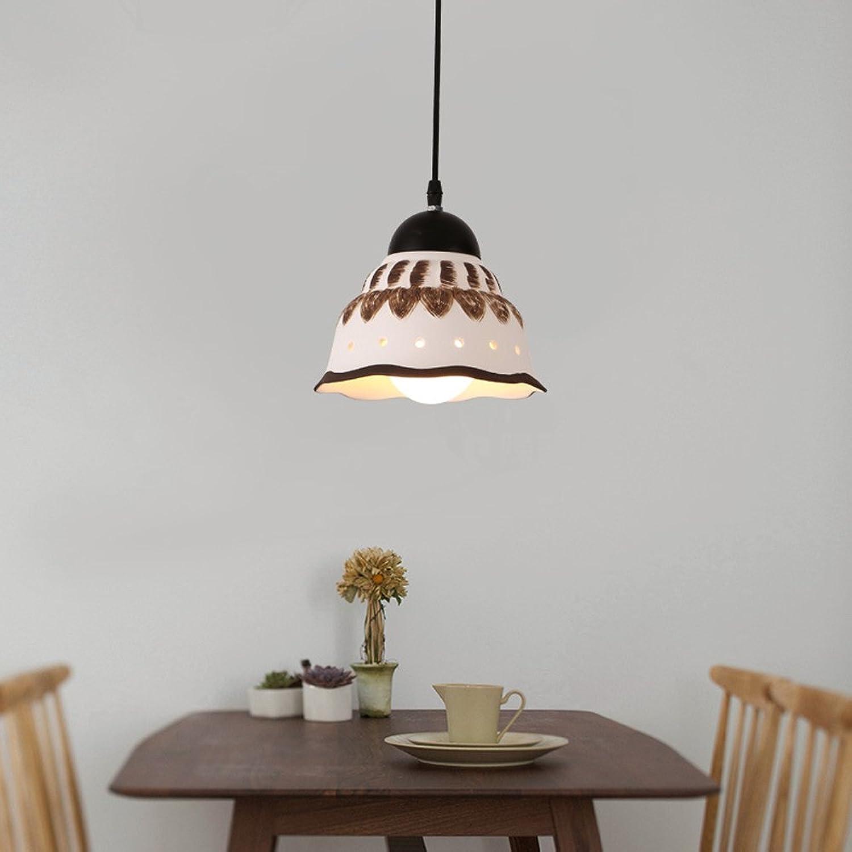 Wanson Kronleuchter Modern Restaurant Schlafzimmer Pendelleuchte Keramik Deckenlampe Creative Lichtarmaturen Durchmesser 20Cm E27 Weie Lampe