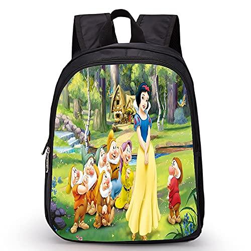 CHANGD Blancanieves y los siete enanos multi escena mini mochila anime dibujos animados/niñas al aire libre bolsas de deportes