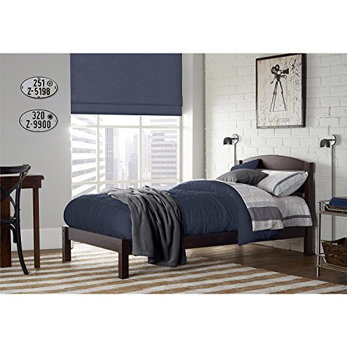 Dorel Living Braylon Twin Bed, Espresso