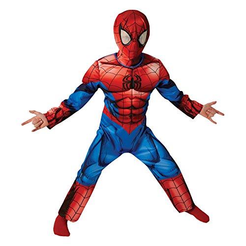 Rubie's-déguisement officiel - Marvel- Déguisement luxe Ultimate SpiderMan - Taille M 5-6 ans- I-620681M