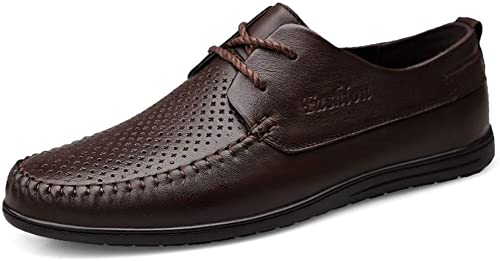 SHENNANJI pour Les Hommes Chaussures Oxford Chaussures Formelles à Lacets Style Ox Cuir Simple Couleur Pure