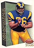 Orlando Pace Football Card (Ohio State, St. Louis Rams) 1997 Topps Stars Draft Pick #101 Rookie. rookie card picture