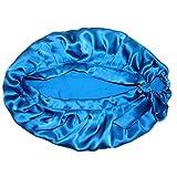 YSoutstripdu - Gorro de Seda Suave y Transpirable para el Cuidado del Cabello de Las Mujeres, Ideal para Pacientes con cáncer, Toalla Azul Marino