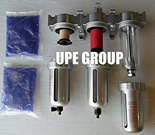 """1/2"""" COMPRESSED AIR INLINE PARTICULATE FILTER WATER TRAP / COALESCING FILTER / DESICCANT DRYER 3 STAGE GOOD FOR PLASMA CUTTER"""