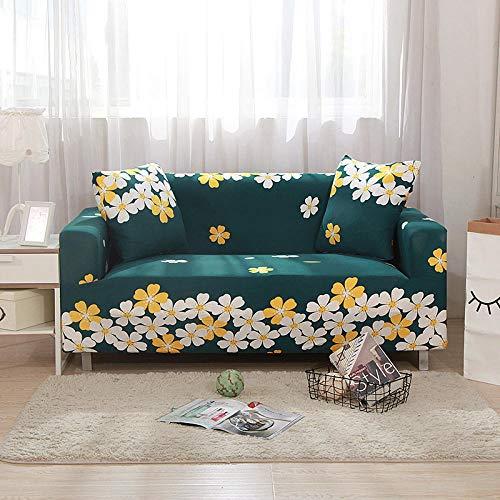 XIAOYAN Funda Flexible para sofá, Funda para Muebles elástica con Todo Incluido, Toalla elástica para sofá, decoración del hogar, Asiento 1/2/3/4-verde_XL 235-300cm