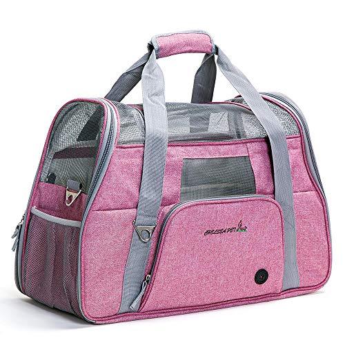 ubest Faltbare Hundetasche, Hundetragetasche, Katzentragetasche, Transporttasche Transportbox für Hunde und Katzen bis 8kg, 51 x 22 x 34cm,...