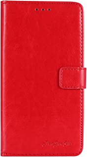 TienJueShi Red Book Stand Retro Flip Leather Protector Phone TPU Silicone Case For Infinix S5 Pro 6.53 inch Gel Cover Etui...