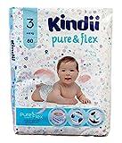 Kindii Pure & Flex - Pañales desechables (4-9 kg, 60 unidades)