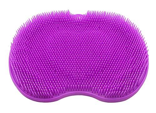 CERRXIAN Alfombrilla de baño de silicona – Limpiador de talón a dedo – Limpiador de almohadillas de masaje Shiatsu – Bañera de adsorción (edición normal morada)