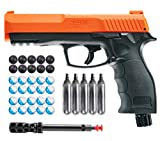 Wearable4U T4E by P2P HDP .50 Caliber Pepper Ball Air Pistol with Included 5X 12g CO2 Tanks w/ 20 Powder Balls and 10x Rubber Ball Bundle