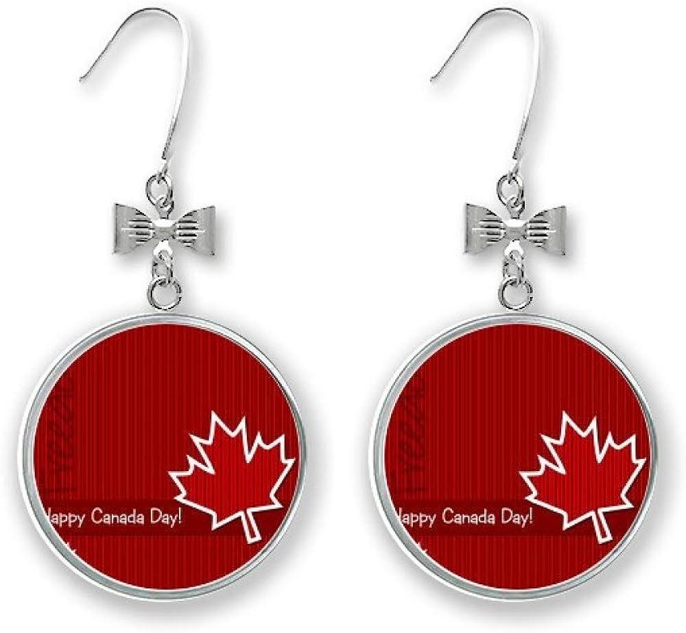 Ranking TOP10 Canada 25% OFF Flavor Happy Day Bow Drop Stud Pierced Earrings Ho