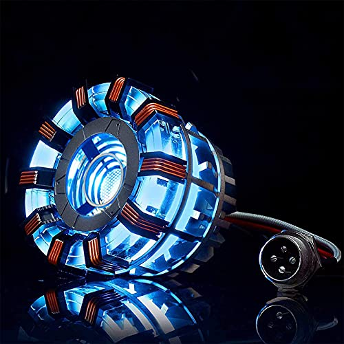 PRETAY Iron Man ARC Reactor MK2, 1: 1 con luz LED, Tony Stark Tiene un corazón Sensible al Tacto, no Requiere Control Remoto, Montaje Totalmente fácil, Interfaz USB (con Vitrina) (Color : MK2)