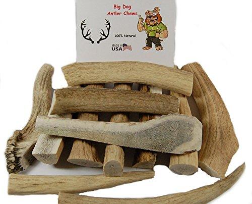 Big Dog Antler Chews – Grade B Deer and Elk Antler Pieces