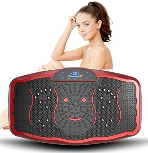 Vibrationsplatte Slim und rutschfest Hochfrequenz Bluetooth-Vibrationsplatte mit Ferngewicht-Ablehnung Körperformungsmaschine Musik Gewichtsverlust Fett Burning Fitness-Maschine (Color : Rosso)