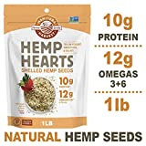 Manitoba Harvest Hemp Hearts Raw Shelled Hemp Seeds, 1lb; with 10g Protein & 12g Omegas per Serving,...