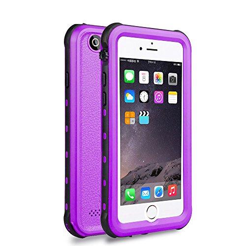 Zimu Joy iPhone 6 / 6s Waterproof Case, Underwater Full Sealed Cover Snowproof Shockproof Dirtproof IP68 Certified Waterproof Case for iPhone 6/6s 4.7 inch (Purple)