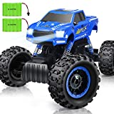 DOUBLE E RC Cars Remote Control Car 1:12 Off Road Monster Truck for Boy Adult Gifts ,2.4Ghz All Terrain Hobby Car with 2 Batteries,4WD Dual Motors LED Headlight Rock Crawler