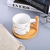 Tazza personalizzata tazza colazione grande tazza termica tazza caffe -Manico in legno bianco Regali per Festa Della Mamma SanValentino Compleanno Natale Anniversario