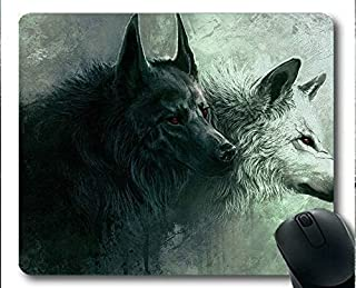 Flying Pig Men Mousemat,Wolf Gaming Mouse Pads (Multicolor)