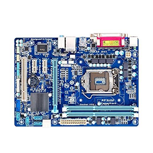 Newwiee Fit for GIGABYTE GA-B75M-D3V, Placa Base de Escritorio, Placa Base para Servidor, Placa Base para Juegos B75, zócalo LGA 1155 I3 I5 I7 DDR3 32G Micro ATX B75M-D3V