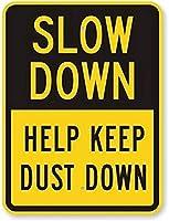 道路標識の速度が落ちる-ほこり、蛍光イエローダイヤモンドグレードアルミニウムメタルティンサインの道路標識を守るのに役立つ