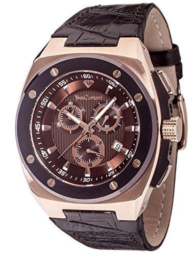 Yves Camani Quentin Herren-Armbanduhr Chronograph Analog Quarz Edelstahl beschichtet YC1072-A
