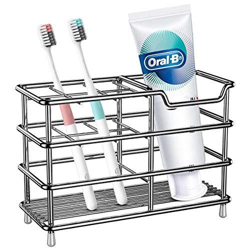 1 St/ück BasicForm Edelstahl-Zahnb/ürstenhalter und Zahnpasta-Halter f/ür Ihr Badezimmer ,MEHRWEG