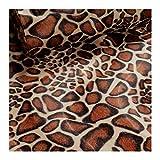 Stoff am Stück Stoff Polyester Plüsch Giraffe Fellimitat