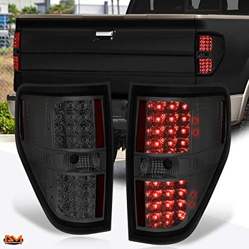 Compatible with Ford F-150 Pickup 09-14 Full LED Tail Light Rear Brake/Reverse Lamp Smoked