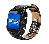 Enox WSP8802 40GB Speicher Android 4.4 Smartwatch Handyuhr SIM Karten Einsatz WLAN 1,54' Display 5.0MP Kamera GPS Navigation 1,3GHz Prozessor SIM-Lock-frei Bluetooth (Schwarz)