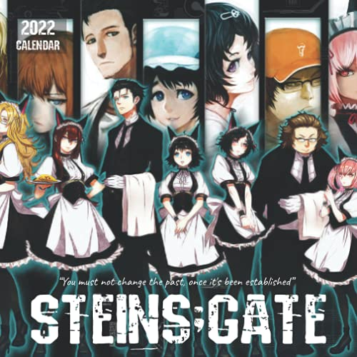 Steins;Gate 2022 Calendar: 18-month Mini Grid Monthly Yearly Calendar for all ages and genders