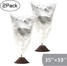 Garden EXPERT Plant Cover Frost Protection Bag Shrubs & Trees Jacket, Prevent Damage, Bad Weather and Pests Thickening of Wind(2-Pack 35'' × 59'')