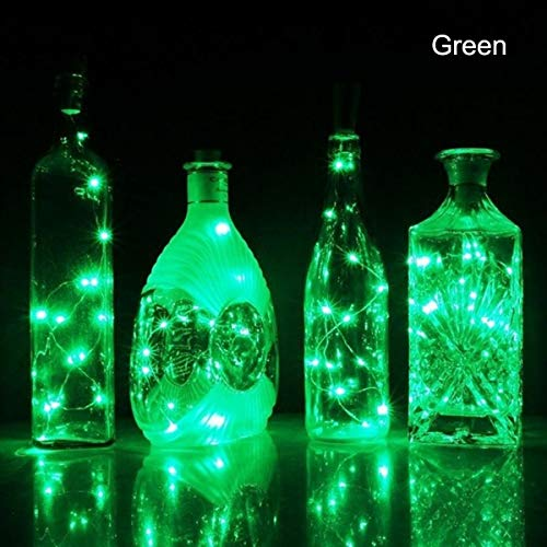 Dasing 1PCS Solar 2M LED Cork Shaped 20 LED Night Fairy String Light Kork Solarbetrieben Licht Wine Bottle Lamp Party Celebration Gift Valentines Green