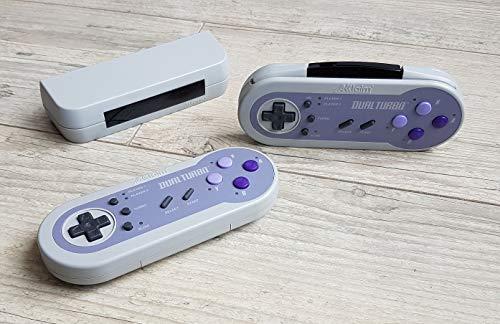 2 Manettes Sans Fil Akklaim Dual Turbo Pour Console Super Nintendo Snes