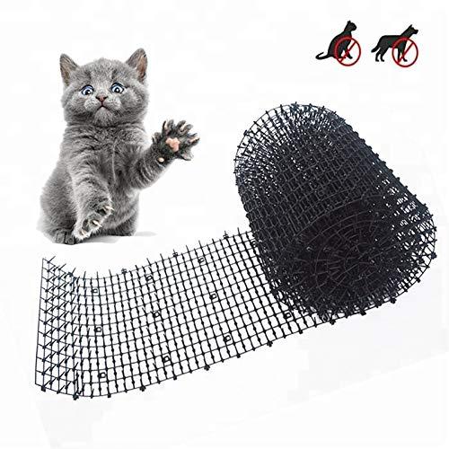 Aodian - Alfombrilla de plástico con pinchos, antigatos y plagas, para evitar que excaven y mantener al gato o perro lejos (2 m)