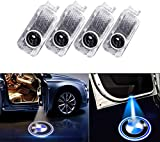 4 PCS Luz de Puerta de Coche 3D Logo Proyector Láser LED Luces Kit(BMW)