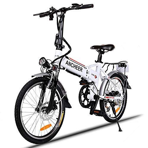 ANCHEER Elektrofahrrad, Faltbares E-Bike Faltrad, 20/26 Zoll Klapprad Pedelec mit Lithium-Akku (250W, 36V, 8Ah), Elektrofahrräder mit 7-Gang Shimano Nabenschaltung