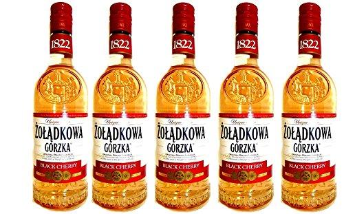 Zoladkowa Gorzka Schwarzkirsche Black Cherry 5 Flaschen Neuheit