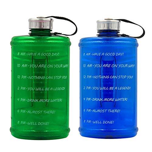 Baoblaze 2X Botella de Agua Portátil Reutilizable Jarra para Beber Hervidor Bicicleta Gimnasio Camping 73oz