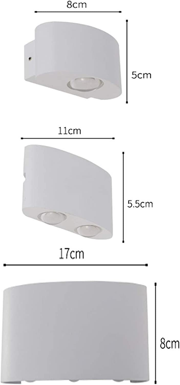 GCCI Startseite Wandmontage Led Wasserdichte Wandleuchte Modern Minimalistisches Interieur Im Freien Wasserdichte Garten Wandleuchte Schlafzimmer Nachttischlampe Gangwand Projekt Auenwandleuchte,C,