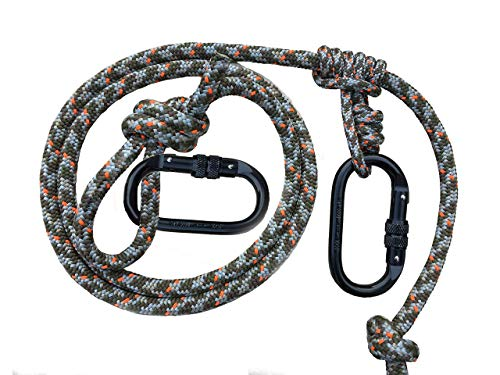 ZOOK Outdoors Adjustable Lineman's Rope | Hunting Safety Line | Trees Stand Harness Rope | Treestrap | Climbing