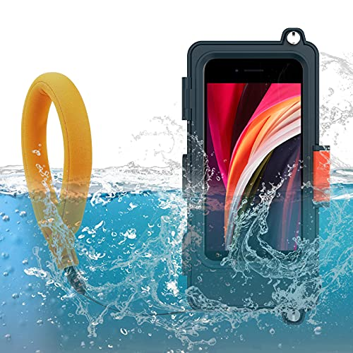 Professional Diving Underwater Phone Case with Waterproof Camera Float Surfing Swimming Snorkeling Photo Video Top Protective Housing for iPhone 12 Mini/11/Xs Pro Max SE XR X, and Other Android Phone