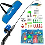 PLUSINNO Kids Fishing Pole,Portable Telescopic Fishing Rod and Reel Full Kits, Spincast Fishing Pole...
